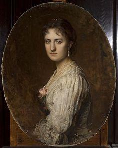 Portret Anny Branickiej, Leopold Horowitz, 1886