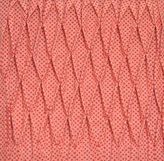 Block 16: Smocked tucks – Textured quilt sampler | Sewn Up