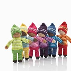 fair trade pebble pixie rattle Fair trade Kahiniwalla knitted baby toys creating a way out of poverty Cotton Crochet, Knit Or Crochet, Cute Crochet, Crochet For Kids, Beautiful Crochet, Crochet Crafts, Crochet Projects, Knitted Dolls, Crochet Dolls