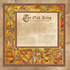 Oak King, Book of Shadows by Brightstone.deviantart.com on @deviantART
