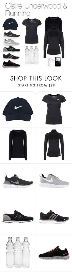 """Claire Underwood & Running"" by oliviapope411 ❤ liked on Polyvore featuring NIKE, Under Armour, New Balance, adidas and Reebok"