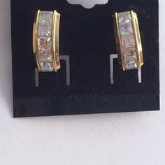 I just discovered this while shopping on Poshmark: Gold tone CZ earrings. Check it out!  Size: OS