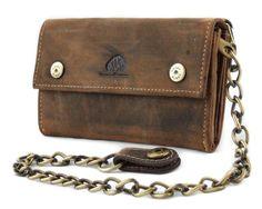 """Duży portfel skórzany z odpinanym łańcuchem z kolekcji """"Vintage Original"""" wykonany ręcznie z wysokiej jakości, wytrzymałej, naturalnej skóry."""