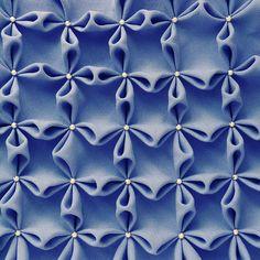 Smocked  fabric flower Tutorial Vintage Pattern sewing by Sol Maldonado