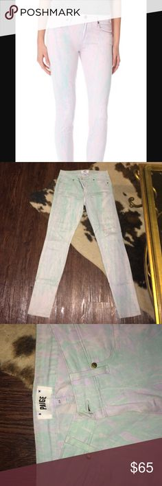 "Paige Versugo ultra skinny watercolor jeans Worn less than 5 times, like new. 31"" inseam 39.5"" from hip Paige Jeans Jeans Skinny"