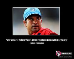 Awesome quote by Sachin Tendulkar... :-)