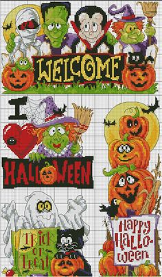 cross stitch Halloween -
