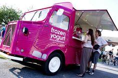 Proud to present you our own Moochie Mobile!be for more information on the Moochie Mobile Tour! Citroen Type H, Citroen H Van, Car Food, Food Vans, Frozen Yoghurt, Yogurt, Catering Van, Bagel Bar, Concession Food