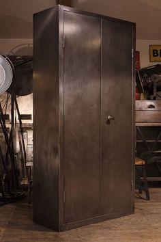 Armoire, Design Loft, Deco Design, Metal Panels, Lockers, Locker Storage, Industrial, Info, Cabinet