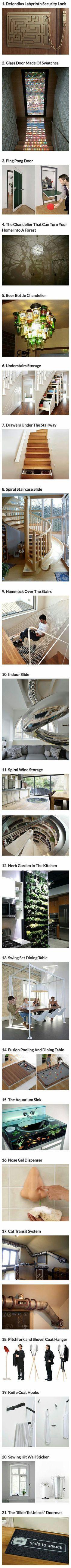 30 Cool and Geeky Home Ideas That Think Outside the Box home outdoors pool backyard luxury interior design interesting exterior design fire pit life hacks life hack home decorating bedrooms Deco Originale, Cool Inventions, Future Inventions, Thinking Outside The Box, Interior Exterior, Luxury Interior, Interior Livingroom, Interior Plants, French Interior