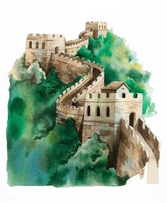 great wall of china The Great Wall of China - china China Wall, Great Wall Of China, China China, Travel Pictures, Cool Pictures, Chinese Background, China Architecture, Mountain Drawing, China Painting