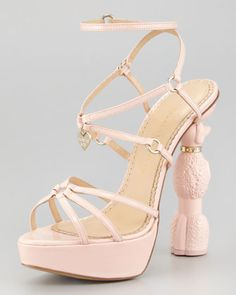 Poodle Heel Platform Sandal by Charlotte Olympia at Neiman Marcus. It has a poodle heel!!!!