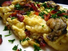 Hangtown Fry Recipe - History of the Hangtown Fry - Breaded Fried Oysters, Eggs and Bacon scramble
