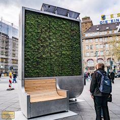CityTree es un muro verde de alta tecnología que elimina del aire las partículas dañinas, y purifica aire como 275 árboles urbanos.  http://ecoinventos.com/citytree/