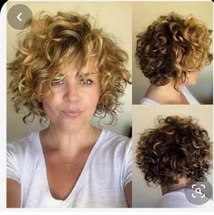Short Curly Cuts, Haircuts For Curly Hair, Curly Hair Cuts, Long Curly, Long Bob, Thin Hair, Bob Styles, Short Hair With Perm, Short Hair For Curly Hair