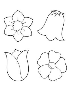spring flowers coloring printout spring day cartoon coloring pages - Simple Flower Coloring Pages