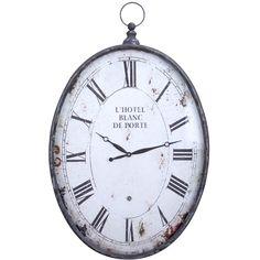 Blanc De Porte Wall Clock