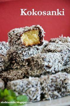 Słodkie niebo: Kokosanki czyli Kostka kokosowa lub Lamingtony