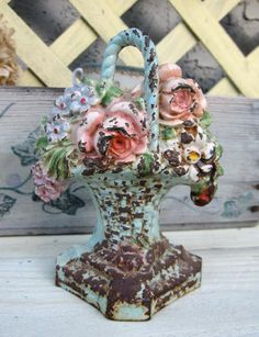 I bought one from the thrift store that is in amazing condition for about $3 ~ I was dancing with it out the door! (iron rose door stop)