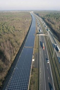❧ Solar Tunnel in Europe - 1st Railway structure used to Generate Green Energy - via Sustainable Man