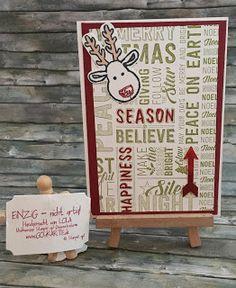 """Gruppenkartenbasteln  Und dann haben wir einen supernetten Sonntagvormittag damit verbracht zu lästern Karten zu basteln Weihnachtsgeschenke zu entwerfen über Adventskalender nachzudenken. Hier dann eine der Karten die bei mir dabei rausgekommen sind:   Meine Schwäche für Hintergrundstempel ist vermutlich inzwischen bekannt ;-)Hier habe ich nur zwei Botschaften hervorgehoben: zum einen die """"happiness season"""" in dem ich die Worte einfach ausgemalt habe und zum zweiten """"Peace on Earth"""" wobei…"""