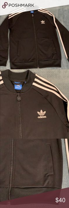 d2744eac57c3 Adidas track jacket. Youth Adidas track zip front jacket. Size youth large.  Purchased