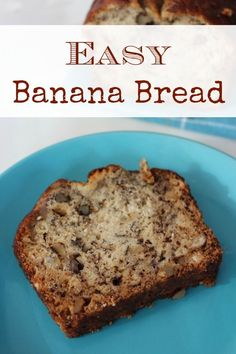 Easy Banana Bread Recipe :: This isn't the only recipe for banana bread I've ever tried, but it is one of my favorites. It's easy to make, it contains only ingredients I usually have on hand, and of course the banana bread always turns out moist and delicious