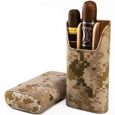 Brizard & Co Desert Military Pattern Showband Cigar Case