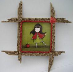 Cadre en carton petit chaperon rouge