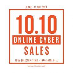 Brands Outlet 10.10 Sale from 9 October 2020 until 11 October 2020 Brands Outlet, 9th October, Fashion Sale, How To Apply