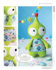 Archie the Alien - free pattern on next side