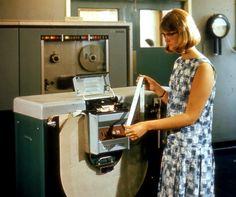 Paper tape reader for computer, 1965.
