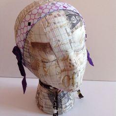 Purple Swirl Side Bun Embellished Headband by joliefemmebydiana