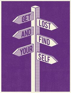 #purple poster: get lost and find yourself