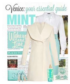 """A Minty Time in Venice"" by conch-lady ❤ liked on Polyvore featuring Donna Karan, Balenciaga, Chanel, Jimmy Choo, J.W. Anderson, LC Lauren Conrad, Victoria's Secret and Dominique Denaive"