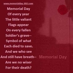 Happy Memorial Day 2014 Poems, Poetry with Images