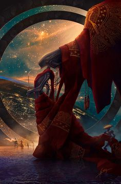 The Queen's walk - Illustration On The Theme Of Valerian and The City of A Thousand Planets.