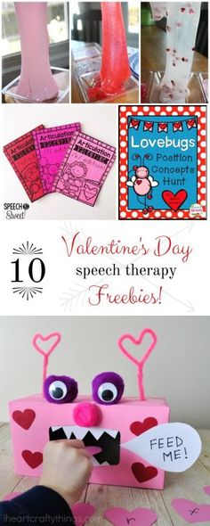 10 Valentine's Day Speech Therapy Freebies | Activities and Printables for Valentine's Day Speech Therapy