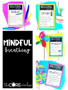 Mindfulness breathing exercises for a calming down space.