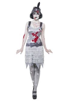 Zombie Flapper Costume - Zombie Great Gatsby Party! #Halloween