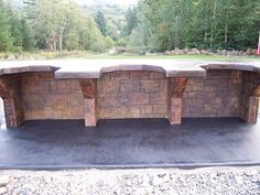 Cinder Block Bench | ... do you think of my new shooting bench? - Georgia Outdoor News Forum