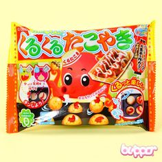 Kracie Popin' Cookin' DIY Kit Takoyaki (◕ᴥ◕) Kawaii Panda - Making Life Cuter Japanese Snacks, Japanese Candy, Japanese Sweets, Takoyaki, Snacks Japonais, Beignets, Octopus, Boutique Kawaii, Candy Drinks