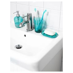 IKEA - SVARTSJÖN, Soap dispenser, Easy to refill as the dispenser has a wide opening.Can be combined with SVARTSJÖN cup and soap dish. Bling Bathroom, Teal Bathroom Decor, Bathroom Accessories, Bathroom Ideas, At Home Furniture Store, Modern Home Furniture, Small Basement Bathroom, Master Bathroom, Ikea Us
