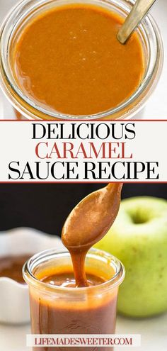 Easy and Delicious Caramel Sauce is a must-try! Serve with fresh fruit, drizzle on baked goods, or eat it by the spoonful! Layered Bean Dip, Party Dip Recipes, Chocolate Chip Brownies, Homemade Caramel Sauce, One Pot Dinners, Brownie Desserts, Homemade Brownies, Breakfast Snacks, Healthy Vegetables
