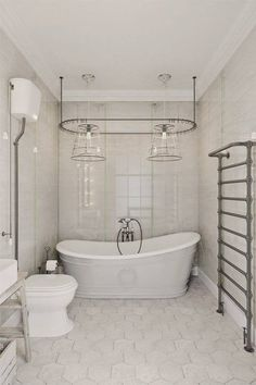 This beautiful open plan Prague apartment by interior designer Anton Medvedev has a strong wow factor! Amazing Bathrooms, House Design, Vintage Bathtub, Bathroom Design, Interior Design, Bathtub Design, Modern Bathroom, Interior, White Interior