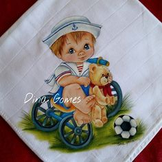 net Decoupage, Baby Drawing, Kinds Of Fabric, Shark Party, Doll Eyes, Baby Art, Cold Porcelain, Fabric Painting, Baby Quilts