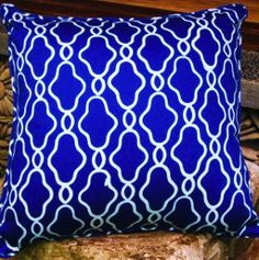 Royal blue pillow- I'm in to graphics!