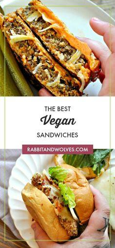 The Best Vegan Sandwiches I've made a recipe round up for all the sandwich l fo. - The Best Vegan Sandwiches I've made a recipe round up for all the sandwich l food-and-drinks Imá - Veggie Sandwich, Vegan Sandwiches, Vegan Sandwich Recipes, Recept Sandwiches, Best Sandwich, Vegan Diner, Vegan Crab, Vegan Chipotle, Ideas Sándwich