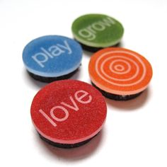 love play grow magnet set by MarciMolinaDesigns, $10.00