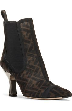 Fendi Colibri Bootie (Women) | Nordstrom Uncommon Gifts, Nordstrom Gifts, Short Boots, Fendi, Sculpting, Shopping Bag, Booty, Heels, Leather